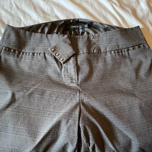 Torrid Gray Plaid Trousers